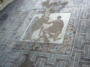 Carranque: Detalle del mosaico de la sala de recepción
