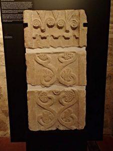 Pilastra, caliza, siglo VII, Vega Baja, Toledo
