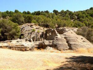 Bobastro.Restos de la basílica excavada.