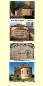 Tipos de cabecera, gentileza de RomanicoAragonés.com. Pulsar para ampliar