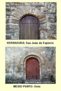 Tipos de puerta principal, gentileza de RomanicoAragonés.com. Pulsar para ampliar.