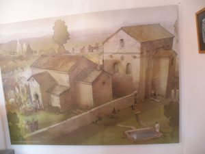 Los Hitos, reconstrución de la iglesia y el palacio