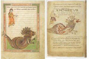La bestia del mar. Izda.A. de Valenccienes, dcha A. de Avianus